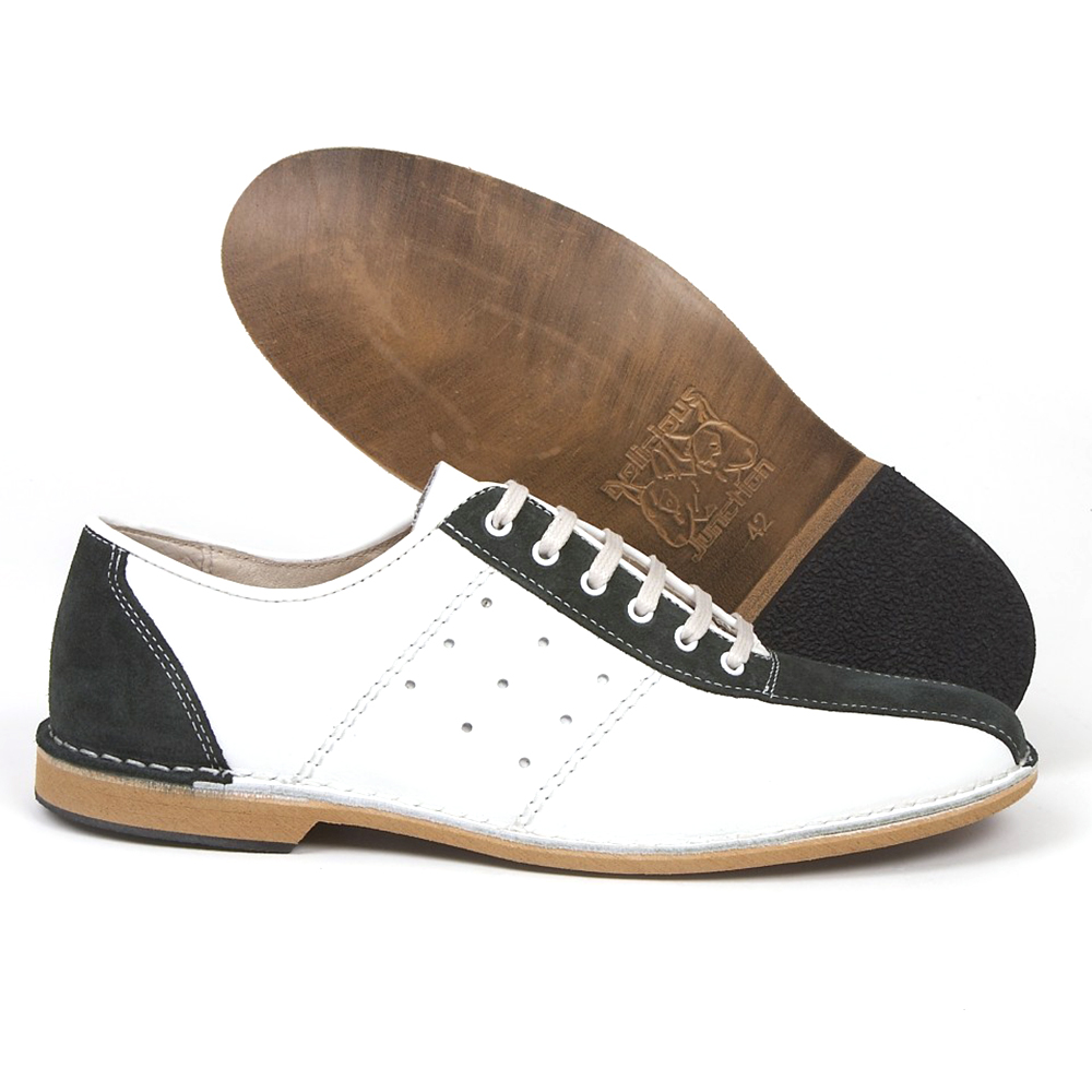 Watts white & green bowling shoe