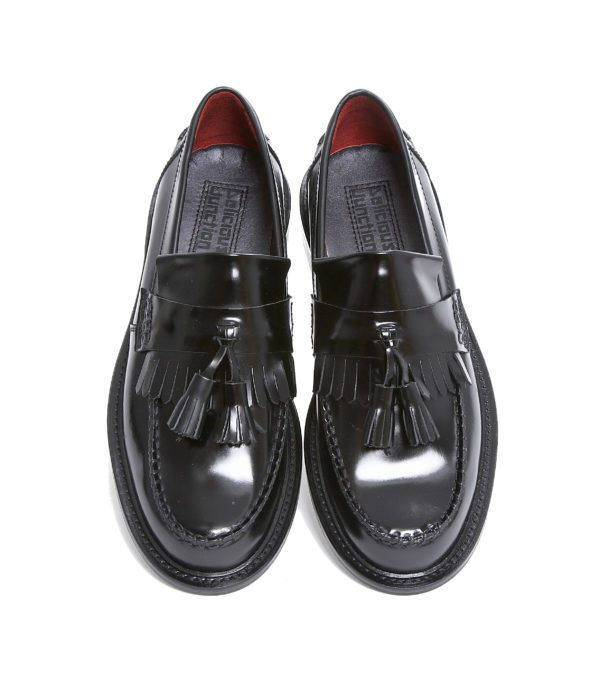 Rude Boy Black Tassel Loafer