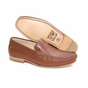 Argent tan leather loafer