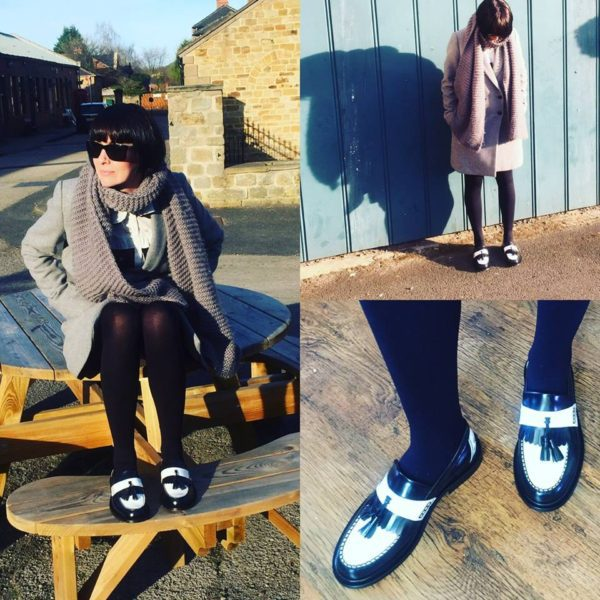 Rude Girl Black & White Loafer