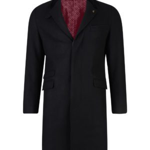 Vintage 60% Melton Wool/40% Polyester Tailored Crombie Styled Coat