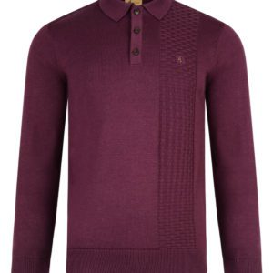 Long Sleeve Polo Collar Knit
