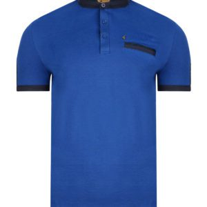 short sleeve alcantara grandad collar polo top