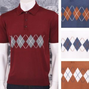 Get Up Argyle Knit Polo
