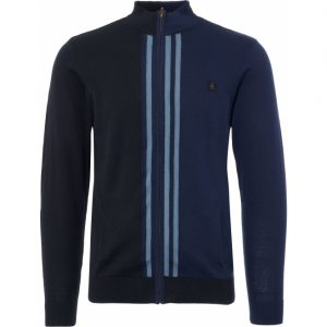 Gabicci Navy Brighton Knit Track Top